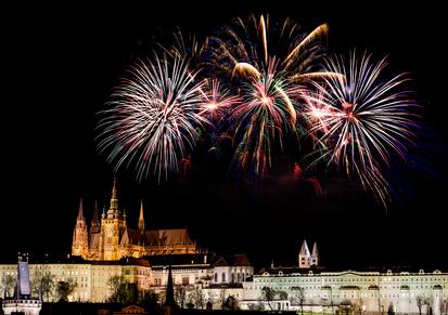 novoroční ohňostroj 2015