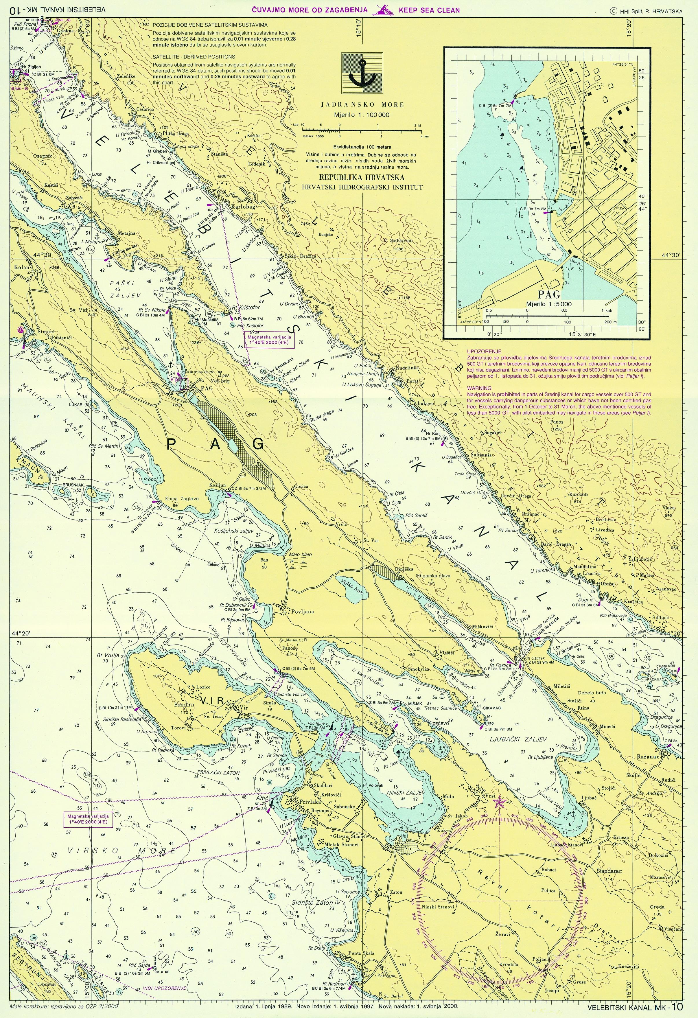 Namorni Mapy Chorvatska Ke Stazeni
