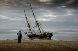 17th Century Replica Of La Grace Stranded In Marbella